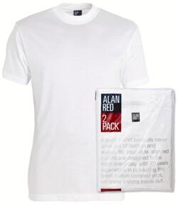 Alan Red Virginia 2-Pack T-Shirt White