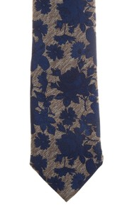 Ascot Petal Pattern Das Blauw-Beige