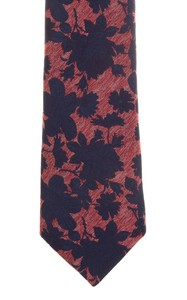 Ascot Petal Pattern Das Rood-Blauw