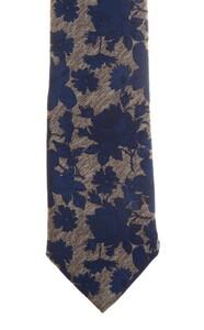 Ascot Petal Pattern Tie Blue-Beige