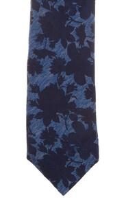 Ascot Petal Pattern Tie Blue-Navy
