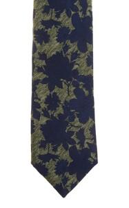 Ascot Petal Pattern Tie Green-Blue