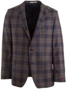Atelier Torino Brunello Classic Check Jacket Blue-Brown