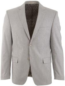 Atelier Torino Roma Striped Elbow Patches Jacket White-Black