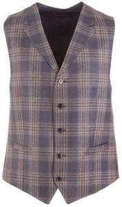 Atelier Torino Ultimo Classic Check Waistcoat Blue-Brown