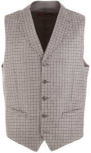 Atelier Torino Ultimo Fine Check Waistcoat Grey