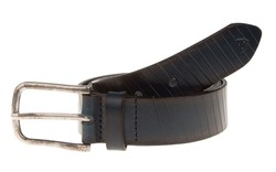 Roy Robson Leather Cut Line Belt Navy