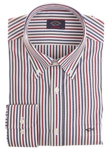 Paul & Shark Distinq Multicolor Stripe Blauw-Rood