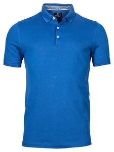 Baileys 2-Tone Oxford Piqué Polo Bright Blue