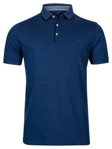 Baileys 2-Tone Oxford Piqué Poloshirt Night Blue