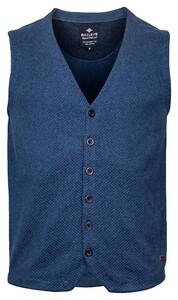 Baileys Buttons Structure Jersey Knit Gilet Blauw