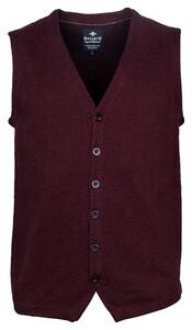 Baileys Buttons Structure Jersey Knit Gilet Bordeaux
