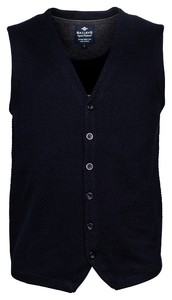 Baileys Buttons Structure Jersey Knit Gilet Navy