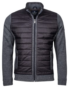 Baileys Cardigan Zip Front Guilted Woven Fully Lined Vest Anthracite