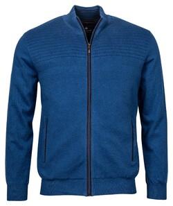 Baileys Cardigan Zip Structure Vest Cobalt