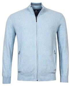 Baileys Cardigan Zip Uni Front Part Structure Knit Vest Placid Blue