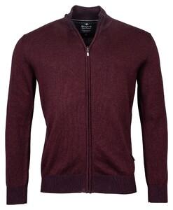 Baileys Cardigan Zip Vest Bordeaux