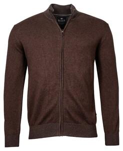 Baileys Cardigan Zip Vest Donker Bruin
