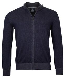 Baileys Cardigan Zip Vest Night Blue Melange