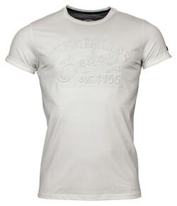Baileys Crew Neck Jersey Registered 1955 T-Shirt Off White