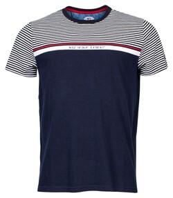 Baileys Crew Neck Jersey Striped T-Shirt Dark Evening Blue