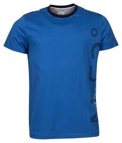 Baileys Crew Neck Jersey Text Contrast T-Shirt Jeans Blue