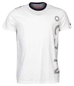 Baileys Crew Neck Jersey Text Contrast T-Shirt Off White