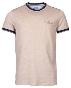 Baileys Crew Neck Pique T-Shirt Tobacco