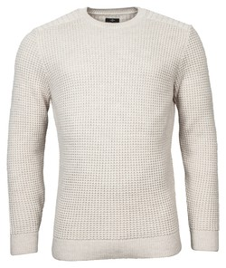 Baileys Crew Neck Pullover All Over Structure Design Pullover Winter White