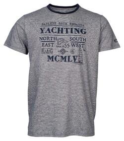 Baileys Crew Neck Yachting T-Shirt Dark Evening Blue