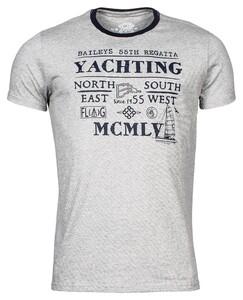 Baileys Crew Neck Yachting T-Shirt T-Shirt Mid Grey