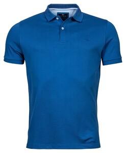 Baileys Double Tuck Piqué Pima Cotton Polo Licht Blauw Melange