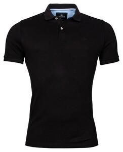 Baileys Double Tuck Piqué Pima Cotton Poloshirt Black