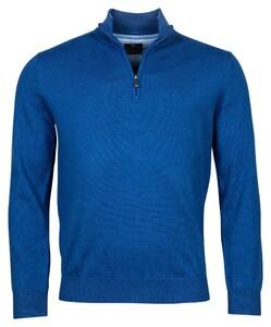 Baileys Pima Cotton Zip Trui Bright Blue
