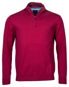 Baileys Pima Cotton Zip Trui Red Plum