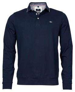 Baileys Pique Solid Longsleeve Poloshirt Dark Evening Blue