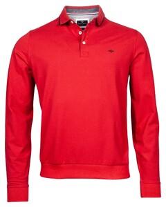 Baileys Pique Solid Longsleeve Poloshirt Red