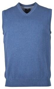Baileys Spencer Single Knit Pima Cotton V-Neck Slip-Over Licht Blue Melange