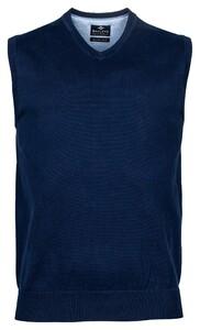 Baileys Spencer Single Knit Pima Cotton V-Neck Slip-Over Night Blue