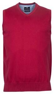 Baileys Spencer Single Knit Pima Cotton V-Neck Slip-Over Red Plum