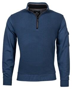 Baileys Sweat Structure 2-Tone Jacquard Interlock Zip Pullover Winter Blue