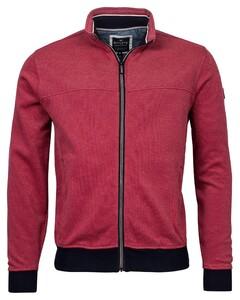 Baileys Sweat Zip 2-Tone Oxford Doubleface Jacquard Interlock Vest Red Plum