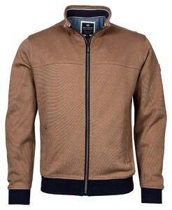 Baileys Sweat Zip 2-Tone Oxford Doubleface Jacquard Interlock Vest Tobacco