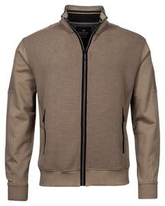 Baileys Sweat Zip 2-Tone Structure Jacquard Interlock Vest Khaki