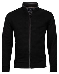 Baileys Sweat Zip Padded Jacquard Fancy Diamond Vest Zwart