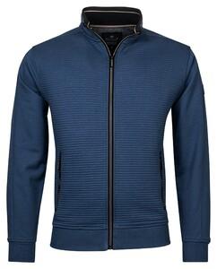 Baileys Sweat Zip Rib Ottoman French Terry Cardigan Winter Blue