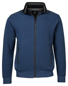 Baileys Sweat Zip Two Tone Structure Jacquard Interlock French Terry Vest Winter Blue