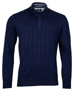 Baileys Uni Zip Stripe Pullover Pullover Night Blue