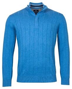 Baileys Uni Zip Stripe Pullover Trui Bright Blue
