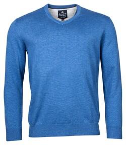 Baileys V-Neck Pullover Pullover Licht Blue Melange